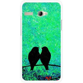 Snooky Printed Love Birds Mobile Back Cover For Intex Aqua 3G Pro - Green