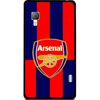 Snooky Printed Sports Logo Mobile Back Cover For Lg Optimus L5II E455 - Red