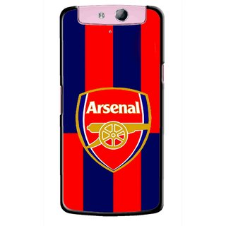 Snooky Printed Sports Logo Mobile Back Cover For Oppo N1 Mini - Red