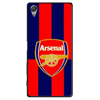 Snooky Printed Sports Logo Mobile Back Cover For Sony Xperia X - Red