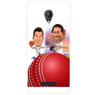 Snooky Printed Play Cricket Mobile Back Cover For Micromax Canvas Spark Q380 - Multicolour