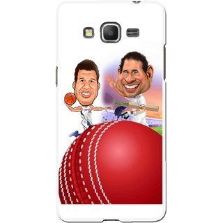 Snooky Printed Play Cricket Mobile Back Cover For Samsung Galaxy Grand Max - Multicolour