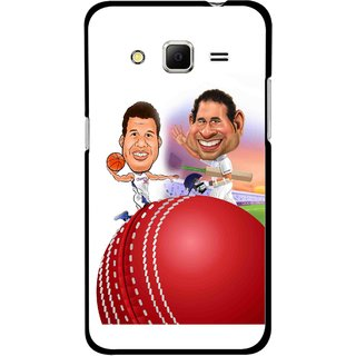 Snooky Printed Play Cricket Mobile Back Cover For Samsung Galaxy Core Prime - Multicolour