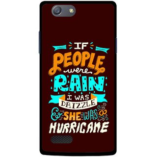 Snooky Printed Monsoon Mobile Back Cover For Oppo Neo 7 - Multicolour