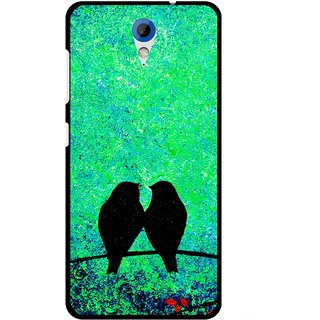 Snooky Printed Love Birds Mobile Back Cover For HTC Desire 620 - Green