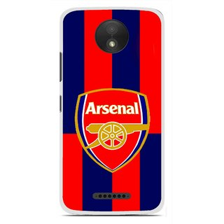 Snooky Printed Sports Logo Mobile Back Cover For Motorola Moto C Plus - Red