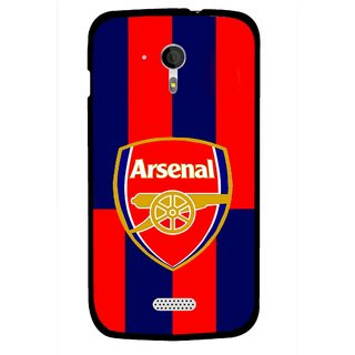 Snooky Printed Sports Logo Mobile Back Cover For Micromax A116 - Red