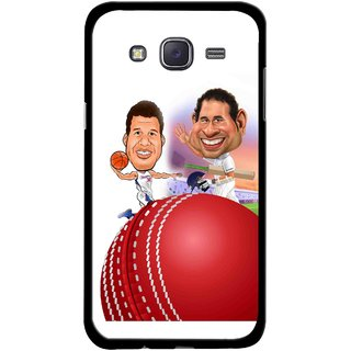 Snooky Printed Play Cricket Mobile Back Cover For Samsung Galaxy J5 - Multicolour
