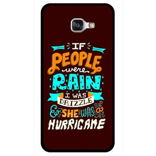 Snooky Printed Monsoon Mobile Back Cover For Samsung Galaxy A7 2016 - Multicolour