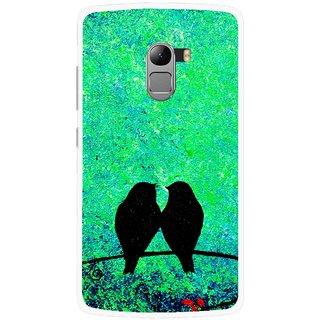Snooky Printed Love Birds Mobile Back Cover For Lenovo K4 Note - Green