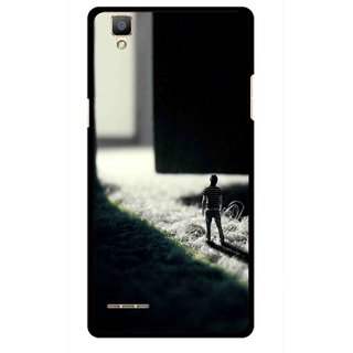 Snooky Printed God Door Mobile Back Cover For Oppo F1 - Multi