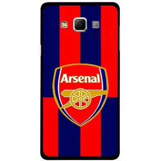 Snooky Printed Sports Logo Mobile Back Cover For Samsung Galaxy E5 - Red