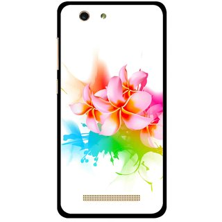 Snooky Printed Colorfull Flowers Mobile Back Cover For Gionee F103 pro - Multi