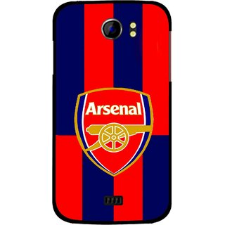 Snooky Printed Sports Logo Mobile Back Cover For Micromax Canvas 2 A110 - Red