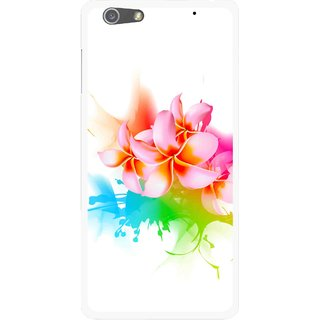 Snooky Printed Colorfull Flowers Mobile Back Cover For Oppo R1 - Multi