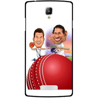 Snooky Printed Play Cricket Mobile Back Cover For Oppo Neo 3 R831k - Multicolour