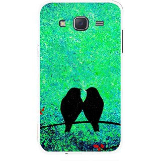 Snooky Printed Love Birds Mobile Back Cover For Samsung Galaxy J7 - Green