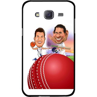 Snooky Printed Play Cricket Mobile Back Cover For Samsung Galaxy J7 - Multicolour