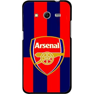Snooky Printed Sports Logo Mobile Back Cover For Samsung Galaxy G355 - Red