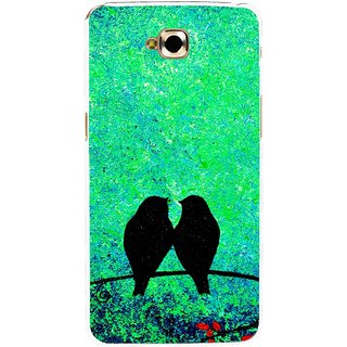 Snooky Printed Love Birds Mobile Back Cover For Lg G Pro Lite - Green