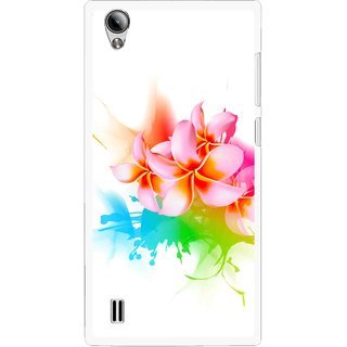 Snooky Printed Colorfull Flowers Mobile Back Cover For Vivo Y15 - Multi