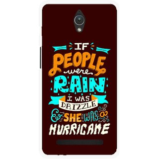 Snooky Printed Monsoon Mobile Back Cover For Asus Zenfone C - Multicolour