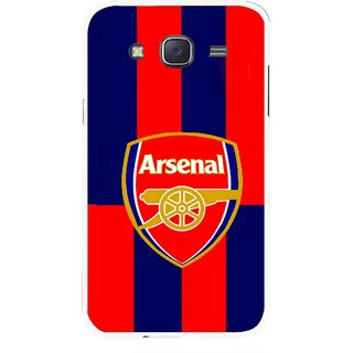 Snooky Printed Sports Logo Mobile Back Cover For Samsung Galaxy J7 - Red