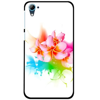 Snooky Printed Colorfull Flowers Mobile Back Cover For HTC Desire 826 - Multi
