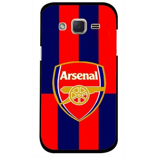 Snooky Printed Sports Logo Mobile Back Cover For Samsung Galaxy j2 - Red