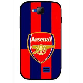 Snooky Printed Sports Logo Mobile Back Cover For Micromax Canvas Fun A63 - Red