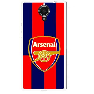 Snooky Printed Sports Logo Mobile Back Cover For Gionee Elife E7 - Red