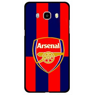 Snooky Printed Sports Logo Mobile Back Cover For Samsung Galaxy J5 (2017) - Red