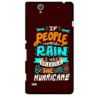 Snooky Printed Monsoon Mobile Back Cover For Sony Xperia C4 - Multicolour