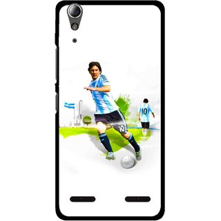 Snooky Printed Football Mania Mobile Back Cover For Lenovo A6000 - Multi