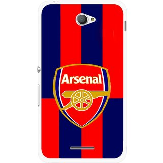 Snooky Printed Sports Logo Mobile Back Cover For Sony Xperia E4 - Red