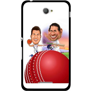 Snooky Printed Play Cricket Mobile Back Cover For Sony Xperia E4 - Multicolour