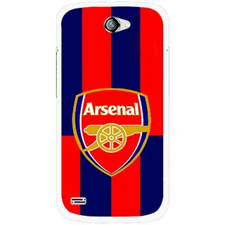 Snooky Printed Sports Logo Mobile Back Cover For Gionee Pioneer P3 - Red