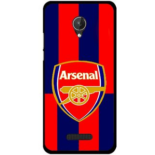 Snooky Printed Sports Logo Mobile Back Cover For Micromax Canvas Spark Q380 - Red