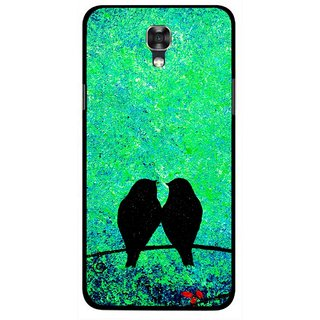 Snooky Printed Love Birds Mobile Back Cover For Lg X Screen - Green