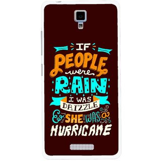 Snooky Printed Monsoon Mobile Back Cover For Gionee Pioneer P4 - Multicolour
