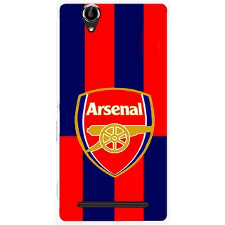 Snooky Printed Sports Logo Mobile Back Cover For Sony Xperia T2 Ultra - Red