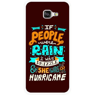 Snooky Printed Monsoon Mobile Back Cover For Samsung Galaxy A3 (2016) - Multicolour