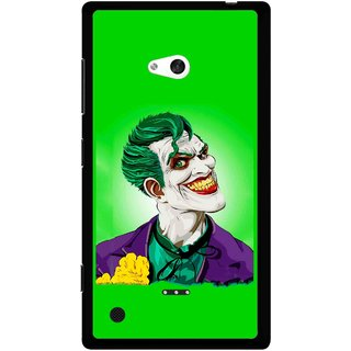 Snooky Printed Ismail Please Mobile Back Cover For Nokia Lumia 720 - Green