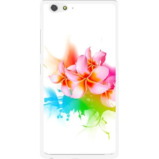 Snooky Printed Colorfull Flowers Mobile Back Cover For Gionee Elife S6 - Multi