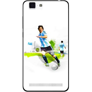 Snooky Printed Football Mania Mobile Back Cover For Vivo X5 Max - Multi