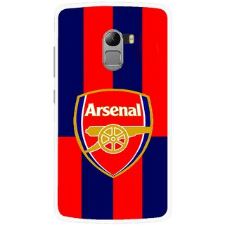 Snooky Printed Sports Logo Mobile Back Cover For Lenovo K4 Note - Red