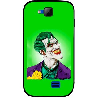 Snooky Printed Ismail Please Mobile Back Cover For Micromax Canvas Fun A63 - Green