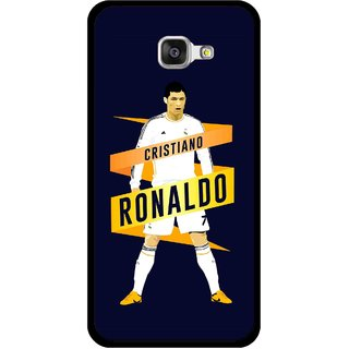 Snooky Printed Ronaldo Mobile Back Cover For Samsung Galaxy A5 2016 - Blue