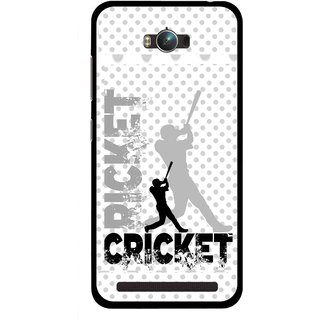 Snooky Printed Cricket Mobile Back Cover For Asus Zenfone Max - Multicolour