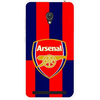 Snooky Printed Sports Logo Mobile Back Cover For Asus Zenfone Go ZC451TG - Red